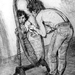 Keith Richards in Mirror
